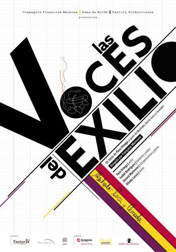 Cartel redes Las Voces del Exilio